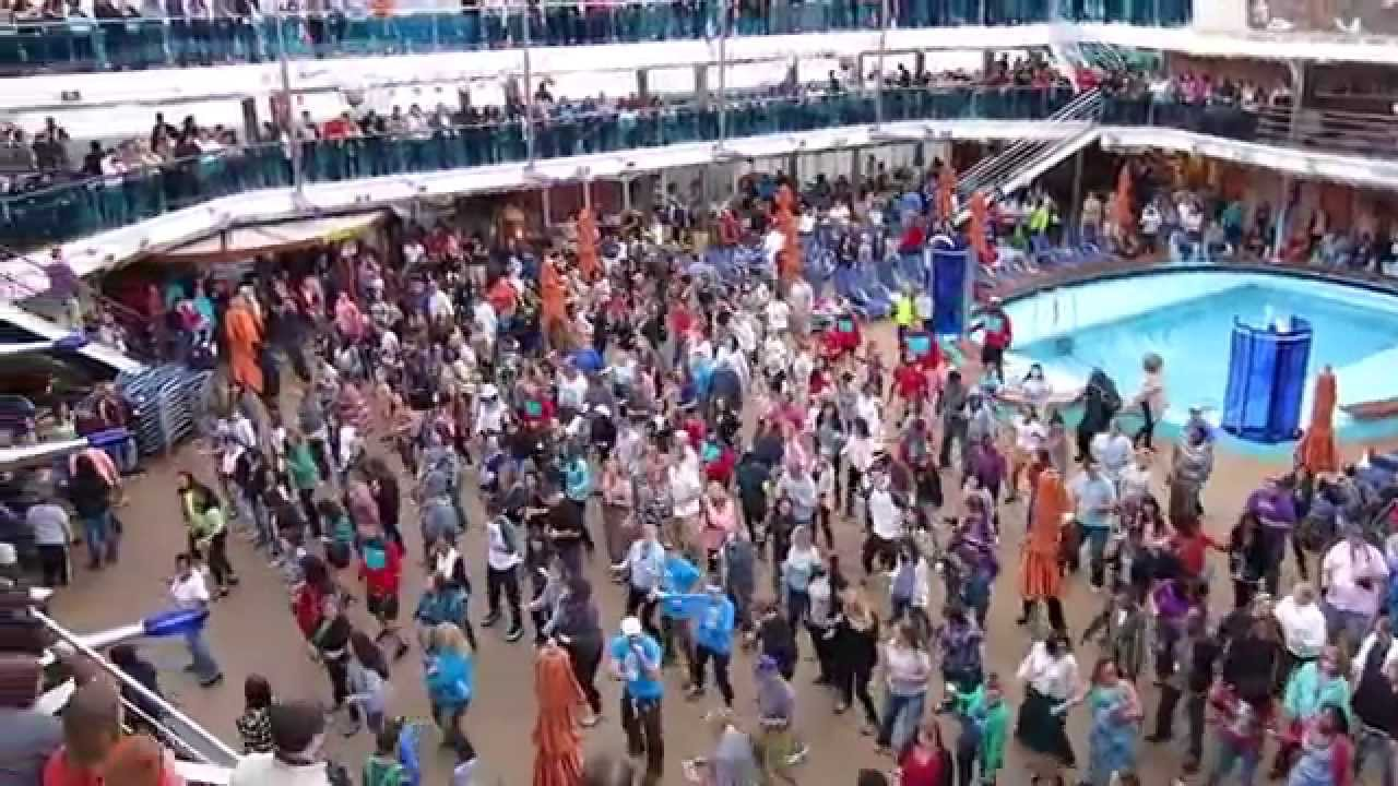 Carnival Dream Cruise Sailaway Party Cupid Shuffle Youtube