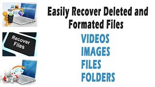 Recover Easily deleted and formated data in windows