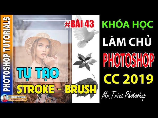 Bài 43: Tự Tạo Stroke - Brush Hình Dạng Bất Kỳ 🔴 Làm Chủ Photoshop CC 2019