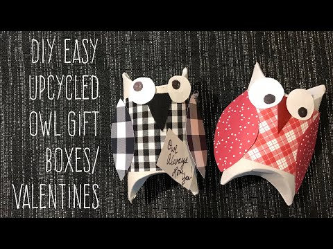 DIY Easy Upcycled Owl Goft Box/Valentine