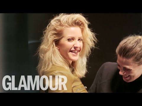 Ellie Goulding 70s flick at her beauty shoot | Glamour UK