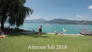 Holiday at Attersee Austria July 2018 in 4K