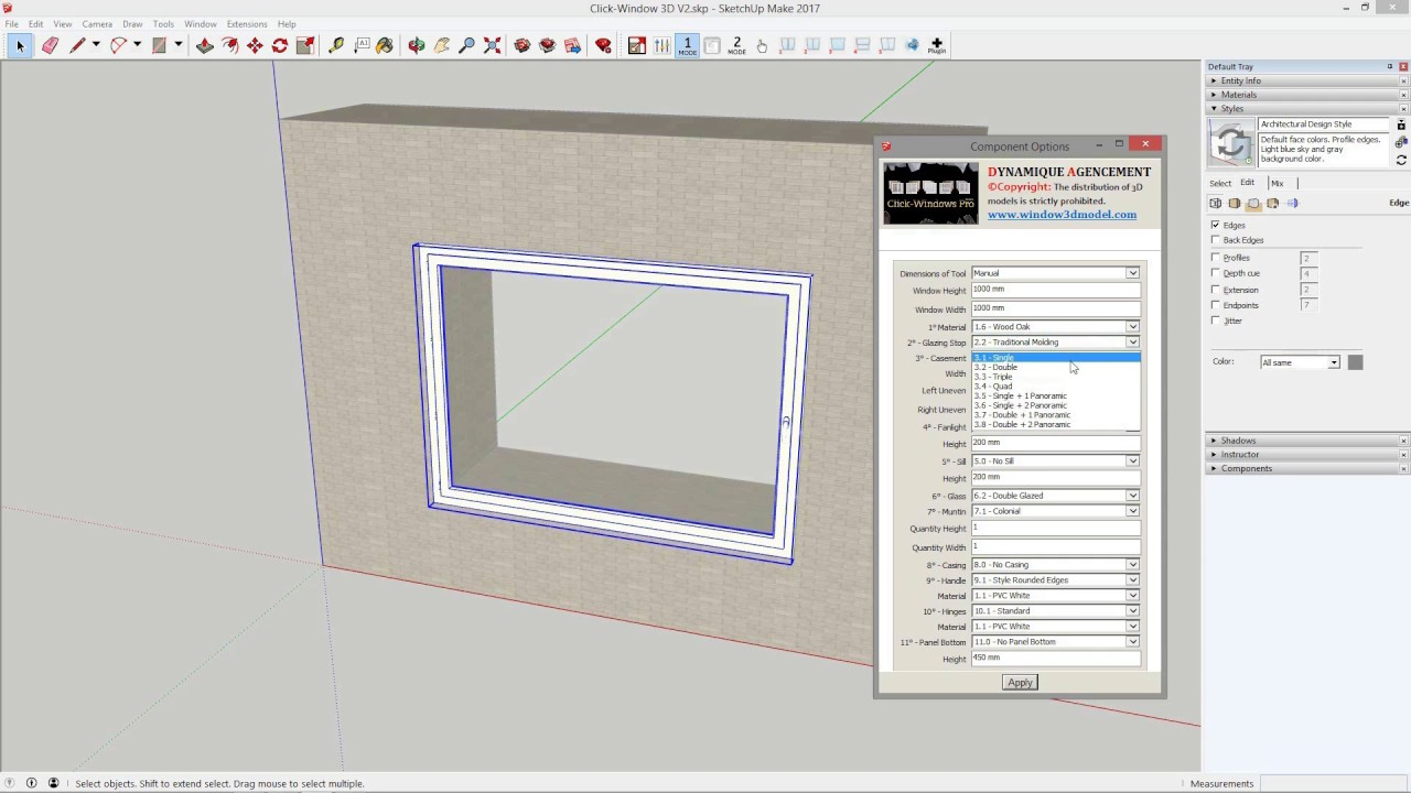 Plugin Sketchup and 3D Windows