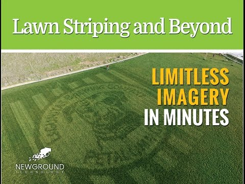 New Ground Technology, Inc.. Beyond Lawn Striping. Amazing Imagery on Turf.