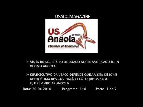 Visita do Secretário de Estado Norte Americano John Kerry a Angola...Parte 1