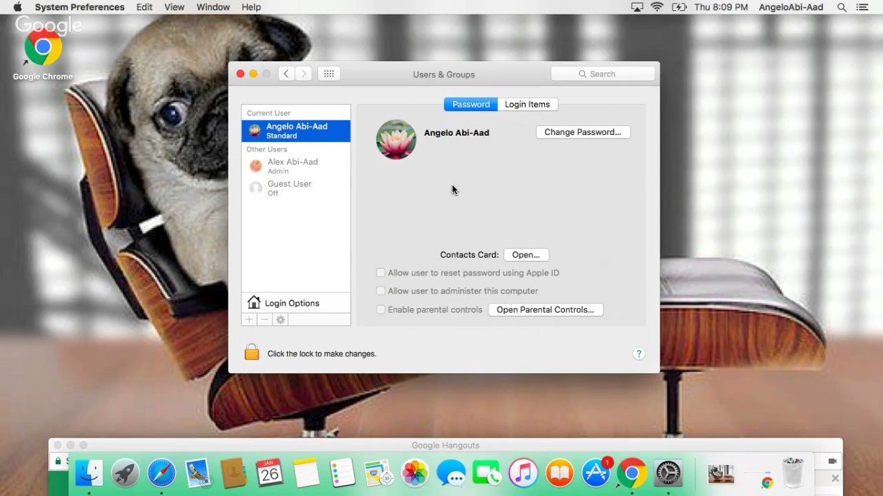 How to create a new account on apple macbook air