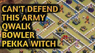 INSANE SUPER QUEEN WALK + BOWLER WITCH PEKKA DESTROY TH12-3 STAR (CLASH OF CLANS)