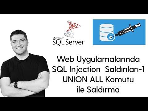 Web UygulamalarındaSQL Injection Saldırıları-1 UNION ALL Komutu Ile Saldırma