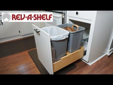 How to Install a Rev-A-Shelf Trash & Recycling Container