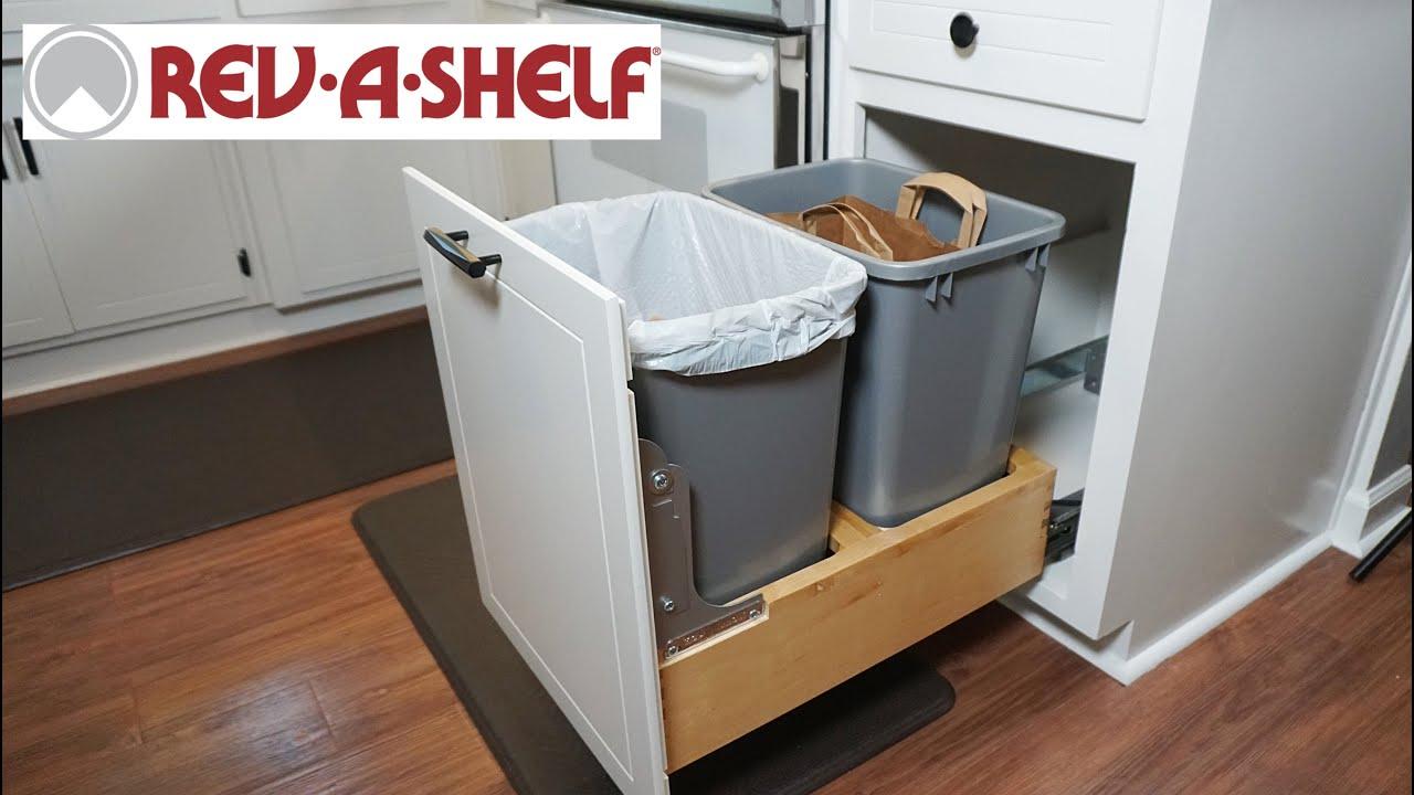 How To Install A Rev Shelf Trash Recycling Container