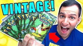 OPENING OLD POKEMON PACKS FROM MY CHILDHOOD!