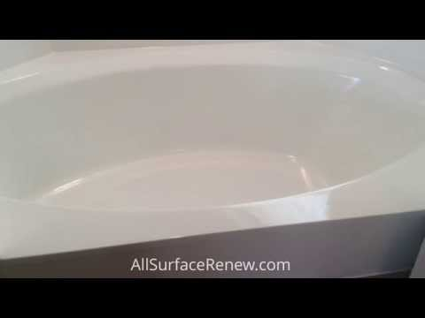 Reglazing a cultured marble tub and shower