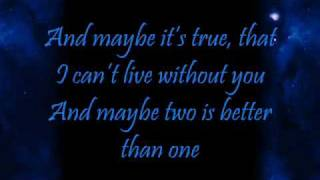 Boys Like Girls ft Taylor Swift~ Two Is Better Than One Lyrics
