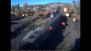 11/10/2018  487 returns to Chama with 4 cars from the charter