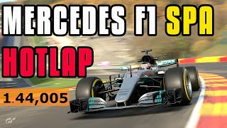 GT Sport - Mercedes F1 Spa Hotlap - 1.44,005
