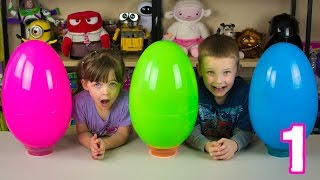 Jumbo Mystery Surprise Eggs Part 1 Emily's Egg My Little Pony Littlest Pet Shop Kinder Playtime