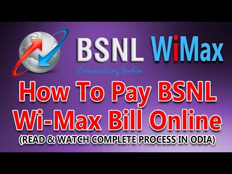 How To Pay BSNL Wi-Max Bill Online On BSNL Online Payment Portal