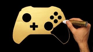 How To Draw Gold  Xbox One Joystick Speed Drawing Draw With Denis