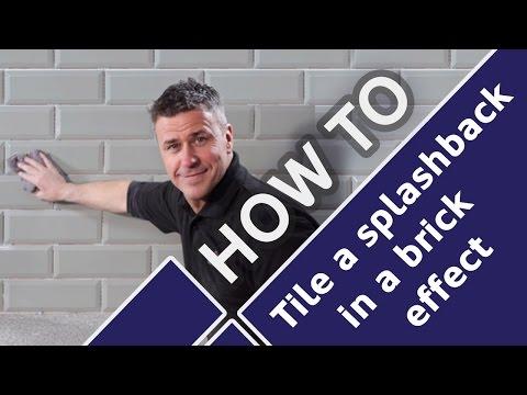 How to Install Kitchen Wall Splashback Metro Tiles - Tile Mountain