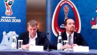 Смотреть видео «Санкт-Петербург встречает Кубок» - пресс (5) онлайн