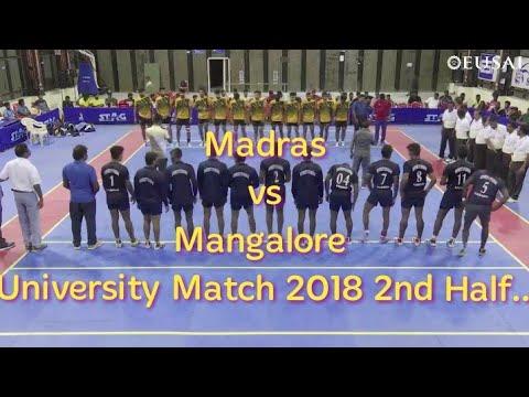 Madras VS Mangalore University Knock Out Match