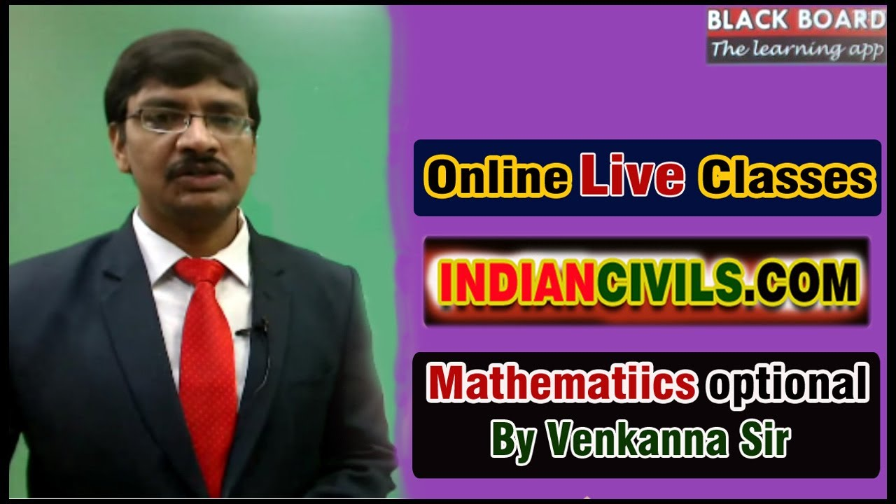 Mathematics Mains Optional Online Coaching for IAS Civil