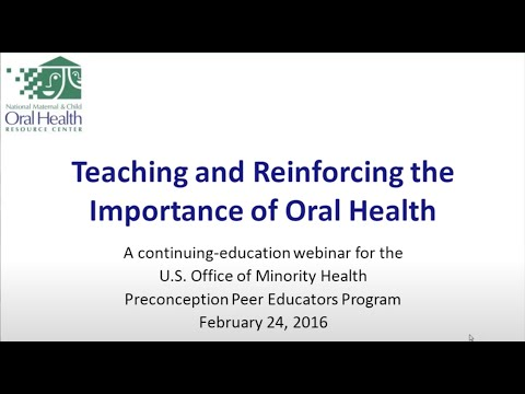 Maternal and Child Oral Health Advocacy and Promotion
