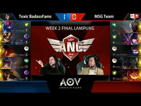 Toxic BadassFams vs MSG Team - Garena AOV ANC City Qualifiers : Week 2 Final Lampung Game 2