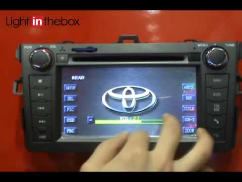 car dvd player for toyota youtube. Black Bedroom Furniture Sets. Home Design Ideas