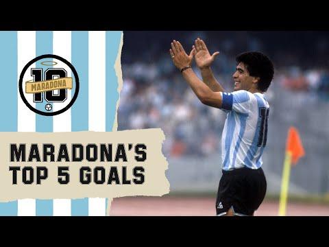 Diego Maradona's Top 5 Goals   FIFA World Cup