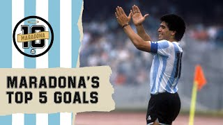 Diego Maradona's Top 5 Goals | FIFA World Cup