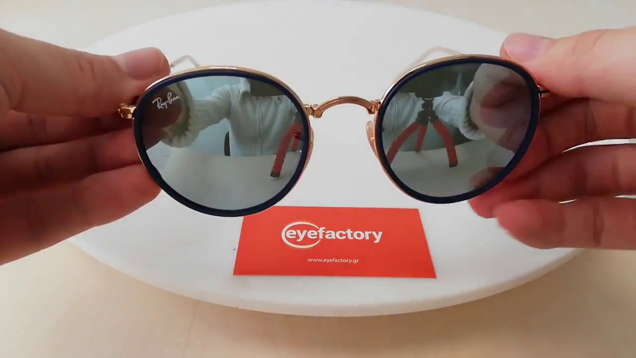 d687b10bfb7 Ray-Ban Sunglasses Round Folding Flash Lenses RB3517 001 30