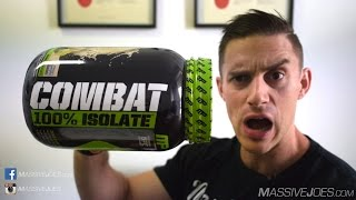 MusclePharm Combat 100% Isolate Protein Powder Supplement Review - MassiveJoes.com Raw Review