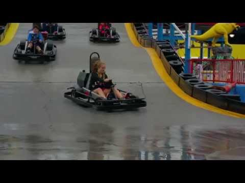 Go Karts on Elevated track in Pigeon Forge, TN (Ava's Crash)