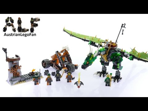 Lego Ninjago 70593 The Green NRG Dragon - Lego Speed Build Review