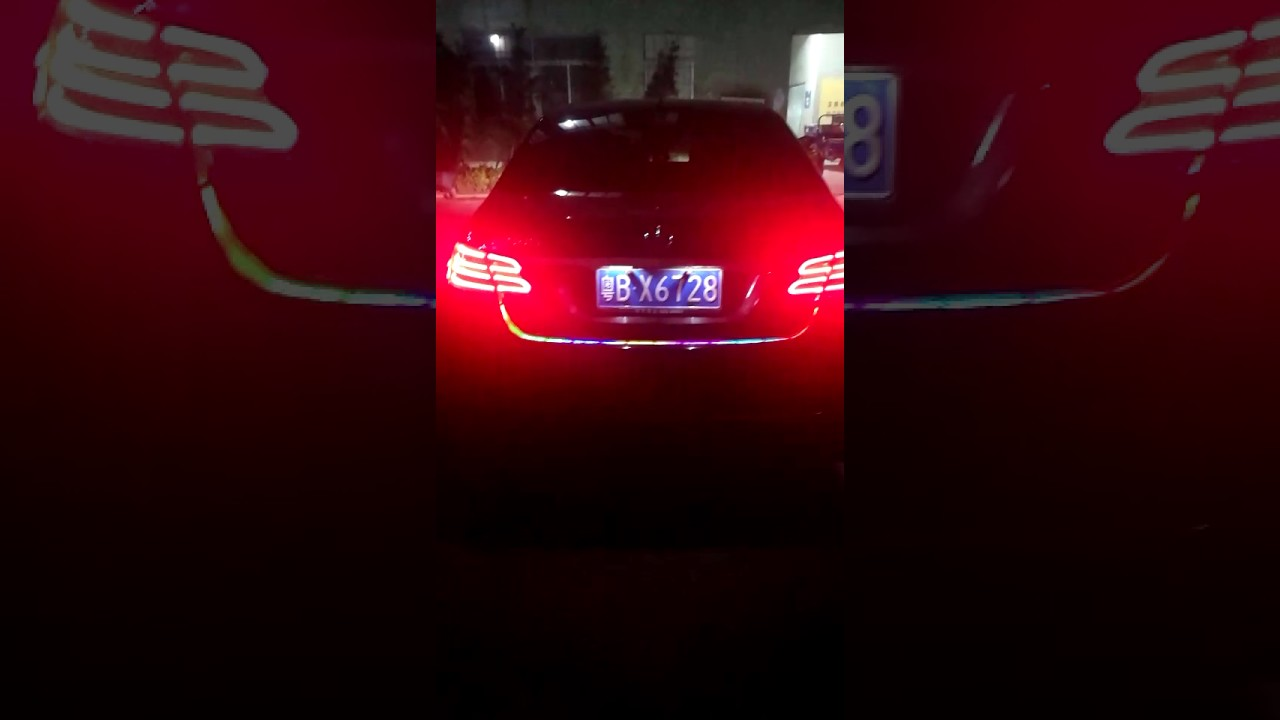 Colorful Sequential Car Led Trunk Light With Side Turn Signals - Car signals