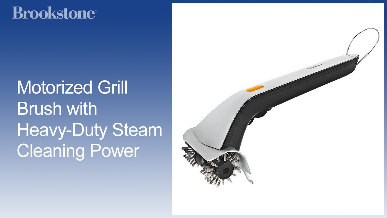 Motorized Grill Brush With Heavy Duty Steam Cleaning