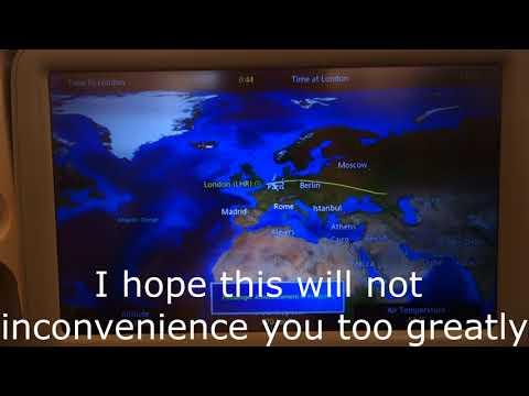 SQ Airbus 380 Captain Speaking Before Landing 2014 Flight