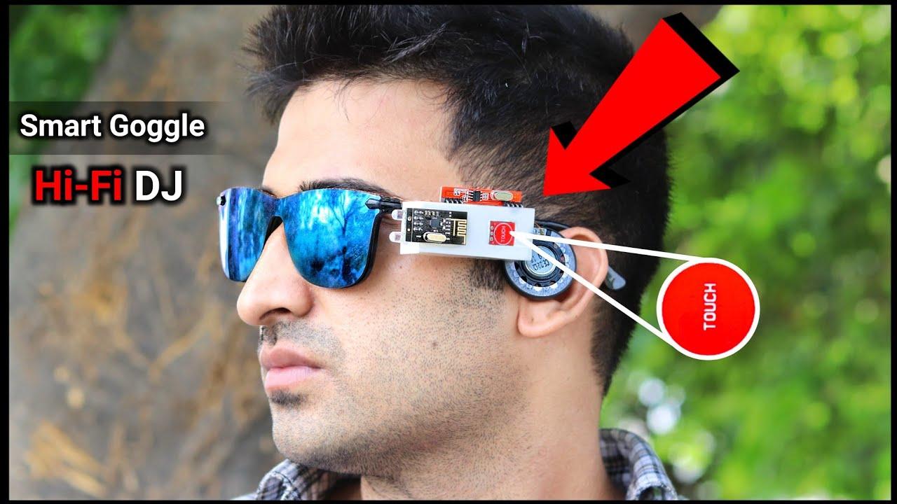 चश्मे को बनाया Smart Bluetooth Goggle    How To Make Dj Bluetooth Goggle    Gadget