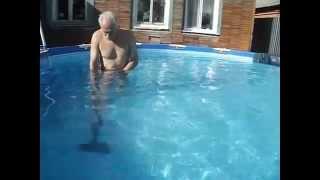 Каркасный бассейн Intex  457х122  Сборка, уход самым дешевым ВОДНЫМ пылесосом(Frame pool Intex.)(Каркасный бассейн Intex 457х122 Сборка, уход - это просто! Еще видео на тему: