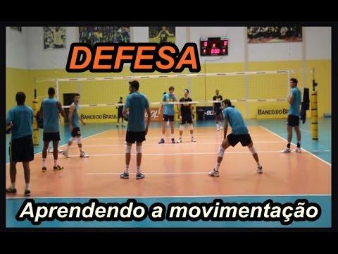 dc4b4173c VOLEIBOL APRENDENDO MOVIMENTAÇÃO DE DEFESA NO VÔLEI - YouTube