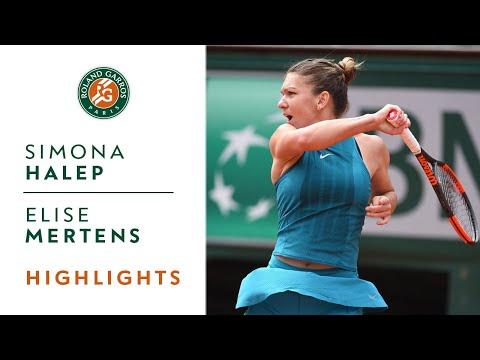 Simona Halep vs Elise Mertens - Round 4 Highlights I Roland-Garros 2018