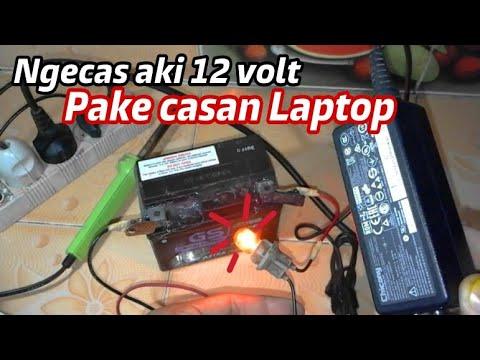 Cara mudah Membuat Charger Aki dari Charger Laptop