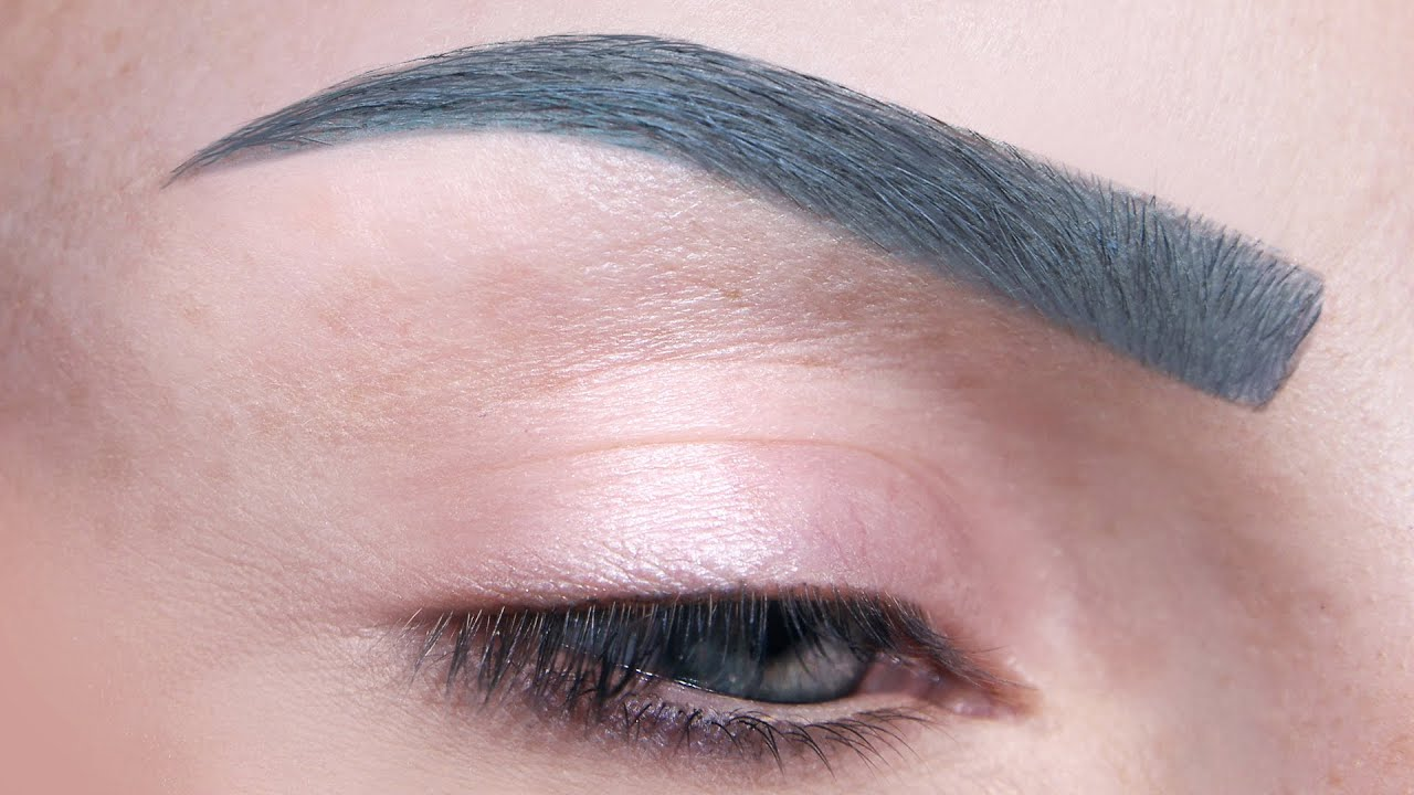 How To Gray Blue Colour Eyebrows Makeup Tutorial Youtube
