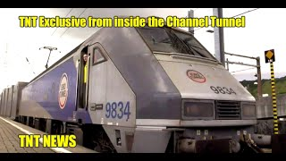 TNT Exclusive from inside the Channel Tunnel!
