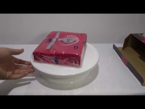 Suport rotativ ornare tort din plastic cu diametru de 28 cm (blogoteca.eu)
