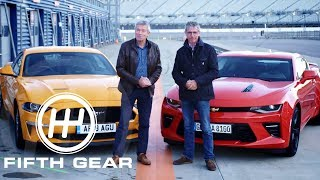 Fifth Gear: Ford Mustang V8 Gt Vs Chevrolet Camaro V8