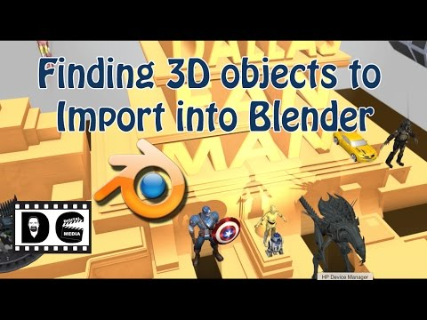 Blender: Finding Free 3D objects to Import into Blender