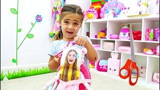 Mia membuat boneka yang mirip dengan Nastya dan Artem