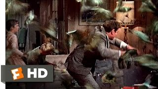 The Birds (3/11) Movie CLIP - Birds Invade the House (1963) HD